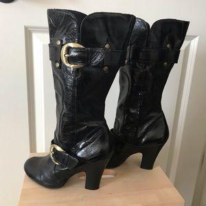 naughty monkey Shoes - Naughty Monkey black leather boots